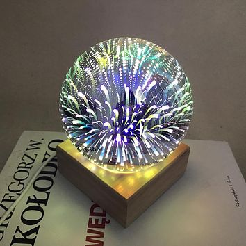 USB power supply 3D colorful crystal night light baby bedroom home decoration lamp
