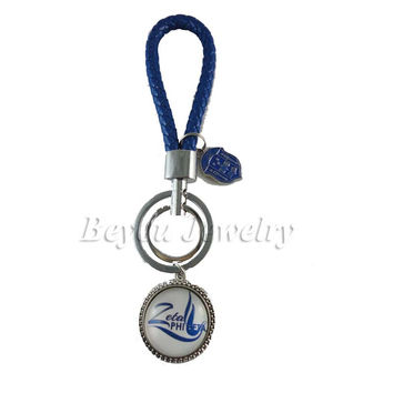 ZETA PHI BETA Sorority Braided Fashion Keychain