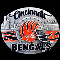 Cincinnati Bengals NFL Enameled Belt Buckle