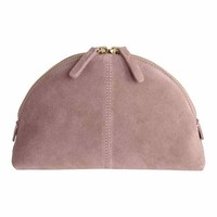 Suede make-up bag - Light pink - | H&M GB