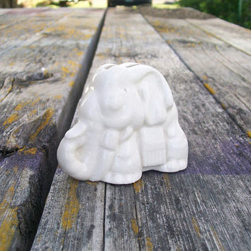 Vintage Elephant Blade Holder Listerine Shaving Cream White