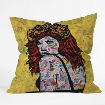 Em on Fire collage throw pillow