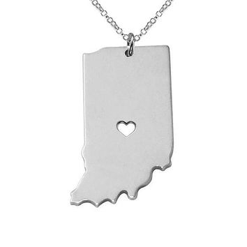 Indiana State Necklace
