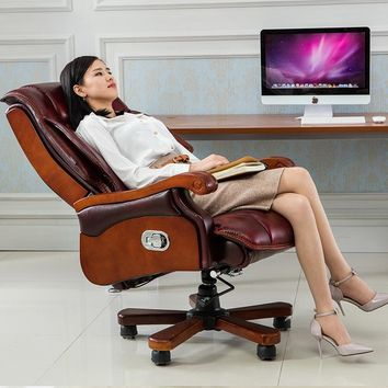 Body Electric Massage Chair Luxury Shiatsu Leather Recliner Office Bedroom 2017 Boss Massage Chair