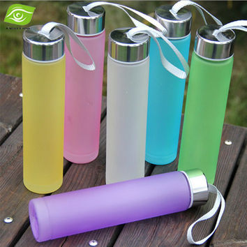 Creative Candy Color Women's Water Cup 280ML Cute Mini Soda Bottles Unbreakable Kettle Portable Sports Water Bottle BPA FREE