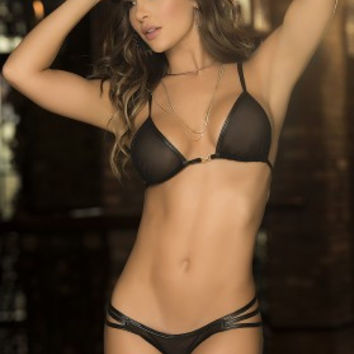 Leather and Lace Panty Set