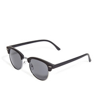 Matte Clubmaster Sunglasses Black One