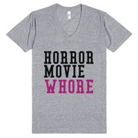 Horror Movie Whore T-Shirt-Unisex Athletic Grey T-Shirt