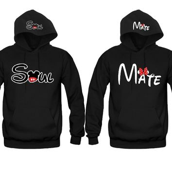 Soul Mate 2 Prints Awesome Unisex Couple Matching Hoodies