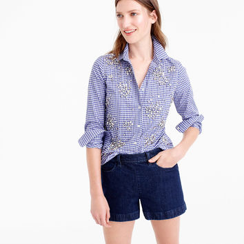 Pre-order Collection Thomas Mason® top in embellished gingham