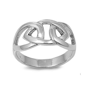 925 Sterling Silver Wicca Binding 10MM Ring