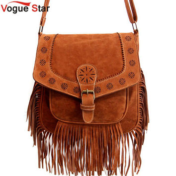 Fringe bag  Bohemian Tassel shoulder bag  vintage Hollow Out  casual  Messenger bag