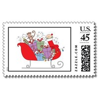 sleigh stamp from Zazzle.com