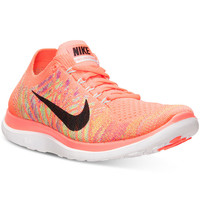 Nike Women's Free Flyknit 4.0 Running Sneakers from Finish Line