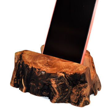 iPhone Stand smart Phone Stand phone Charging Station  Aspen Log iPhone Docking Station