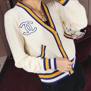 Hot Sale Fashion Women Long Sleeve V Collar Knit Cardigan Jacket Coat