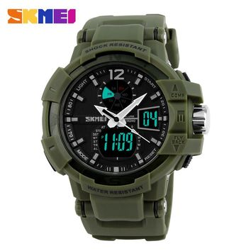 Fashion Outdoor Men Military Watches SKMEI Brand LED Sports Watch Digital Quartz Waterproof Dress Wristwatches 1040