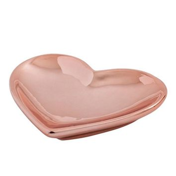 Rose Gold Heart Accessory Dish