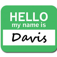 Davis Hello My Name Is Mouse Pad