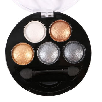 5 Colors Professional Eyes Makeup Pigment Eyeshadow Eye Shadow Palette Beauty Cosmetics SM6