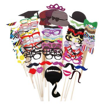 Funny Faces Birthday Photo Booth Props Set