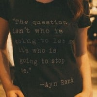 MARGIE AYN RAND TOP