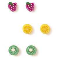 Mixed Fruit Stud Set
