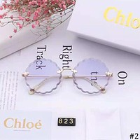 CHLOE 2018 new women's fashion high-definition large frame polarized sunglasses #2