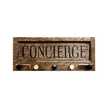 Concierge Coat Check | Vintage Door Coat Rack with Vintage Door Knob Hooks