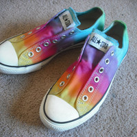 Tie dye Converse All Star Slips by DoYouDreamOutLoud on Etsy