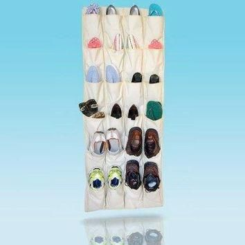 Felji Shoe Rack Closet Organizer System 24 XL Pockets Over the Door