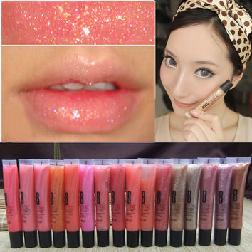 9 Colors New Sexy Glitter Moist Liquid Lipsticks Waterproof Lip Gloss Long Lasting Lip Pencil Makeup
