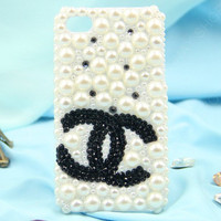 Chanel iPhone 5  case 3D case Pearl case Full of pearls case iphone 4 iphone 4s case