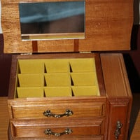 Centturion Jewelry Box, with yellow felt on the inside