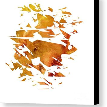 Abstract Acrylic Painting Broken Glass The Creation Canvas Print