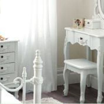 Toulouse White Bedroom Furniture From Dunelm