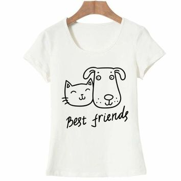 Best Friends Graphic Printed Shirt Tee Top