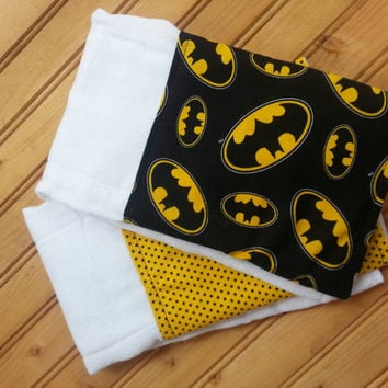 Batman baby burp cloth set