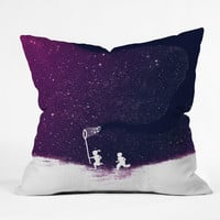 Budi Kwan Starfield Purple Throw Pillow