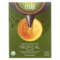 Rishi Tea Organic Green Tea Tropical - 15 Tea Bags