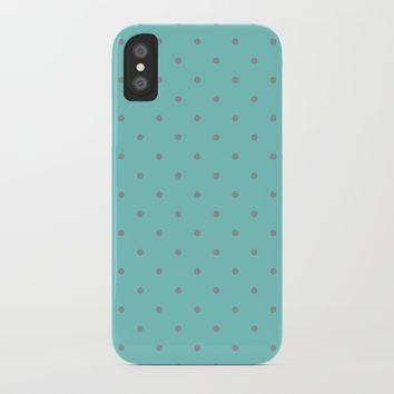Small Grey Polka Dots with Black Background by CoolFunAwesomeTime