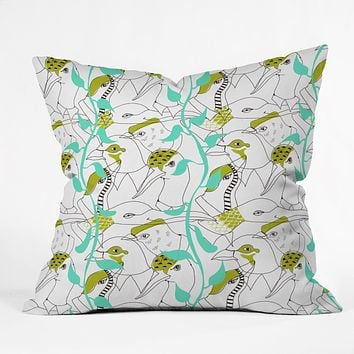 Mummysam Flock Of Birds Throw Pillow