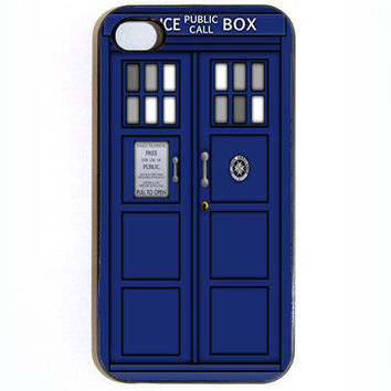 iPhone 4 4s Tardis Dr Who Police Call Box Hard by KustomCases