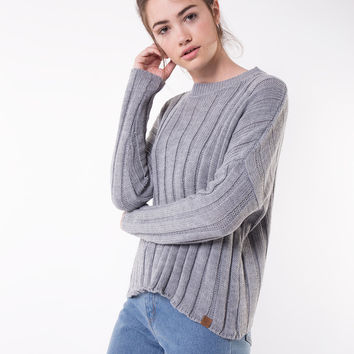 Ada Gray Ribbed Sweater