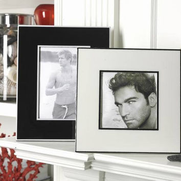 """Laquered Two Tone Ivory Photo Frames 4 1/2"""" x 4 1/2"""""""
