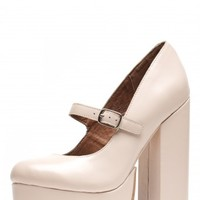 Jeffrey Campbell Shoes ADORLEE Platforms in Beige Box