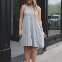 Perfect Match Dress - Heather Grey