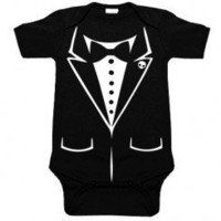 Tux One Piece for babies at My Baby Rocks