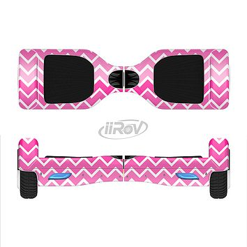 The Pink & White Ombre Chevron V2 Pattern Full-Body Skin Set for the Smart Drifting SuperCharged iiRov HoverBoard