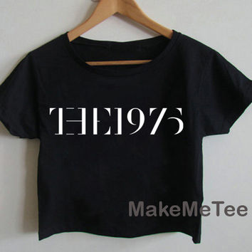 THE 1975 Band Indy Music Crop top Tank Top Women Black and White Tee Shirt - MM2
